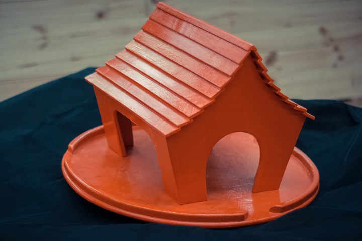 Birdhouse - Red - Painted